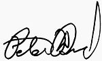 Signature of Peter David
