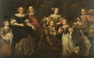 Portret van de familie Lacroix d'Angimont
