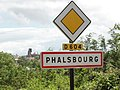 Phalsbourg (Moselle) city limit sign.jpg