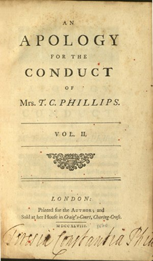 Teresia Constantia Phillips - Published from 1748
