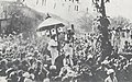 Phoca thumb l NA-231Jawaharlal Nehru being taken in procession in a specially decorated bullock-cart as President of the Faizpur session of the Congress.jpg