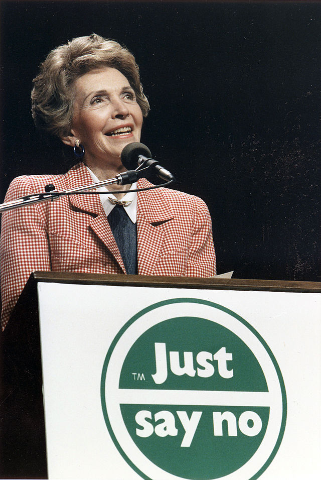 Vaccine Politics, Indigos and Normal Sensory Perception 640px-Photograph_of_Mrs._Reagan_speaking_at_a_%22Just_Say_No%22_Rally_in_Los_Angeles_-_NARA_-_198584