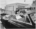 Photograph of President Truman in his limousine during the motorcade from Boca Chica airport to Key West, with... - NARA - 200517.tif