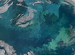 Phytoplankton Bloom in the Barents Sea (Detail) (4971318856).jpg