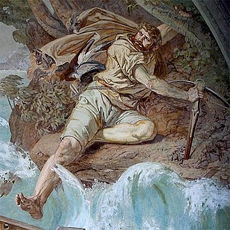 Ernst Stückelberg (painter) - The Leap, from the Tellskapelle