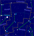 Pictor constellation map-fr.png