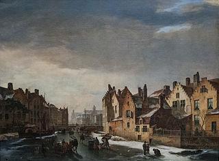 Winter Scene in Ghent