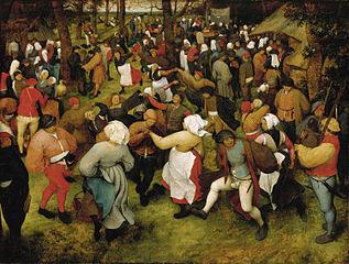 Hochzeitstanz im Freien, Pieter Brueghel