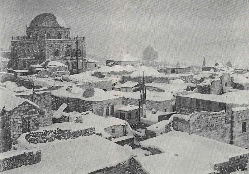 הרובע היהודי בשלג