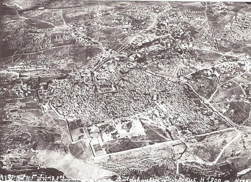 טיסת צילום מעל ירושלים 1917