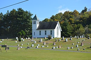 Gilmore Township, Greene County, Pennsylvania - Pine Bank Methodist Church on Toms Run Road