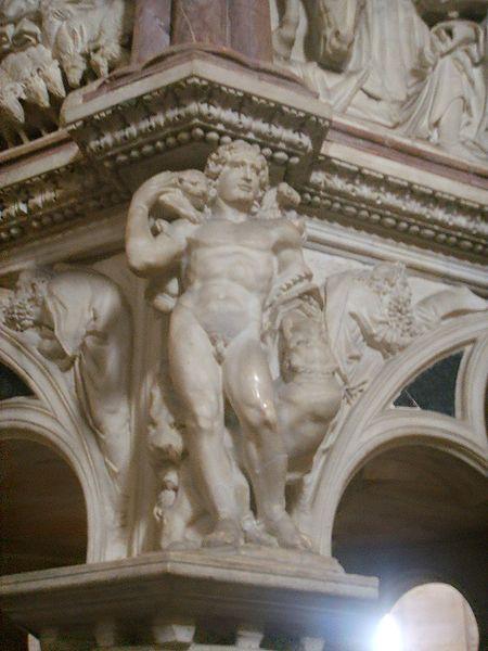Ficheiro:Pisa, battistero, pulpito di Nicola Pisano, 6.JPG