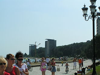 Abkhazia - Seaside in Pitsunda, Abkhazia in 2006