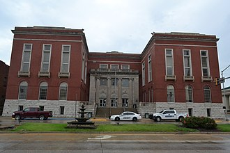 Pittsburg County, Oklahoma - Image: Pittsburg County Courthouse, Mc Alester, OK