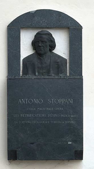 Antonio Stoppani - Plaque in front of Chiesa di San Giovanni in Esino Lario