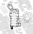 Plano de la Catedral de Valencia y adyacentes con calles.png