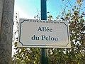 Plaque Allée Pelou St Cyr Menthon 2011-11-23.jpg
