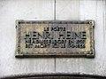 Plaque Henri Heine avenue Matignon à Paris.JPG