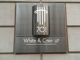 White & Case - Image: Plaque for White & Case LLC 03