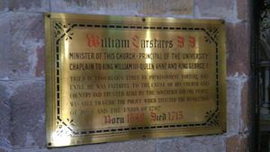 William Carstares - Plaque to William Carstares, St Giles Cathedral, Edinburgh