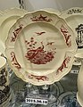 Plate in Liverpool Birds pattern, attributed to Josiah Wedgwood, 1770-1775, transferware (creamware), HD 2015.36.16 - Flynt Center of Early New England Life - Deerfield, Massachusetts - DSC04595.jpg