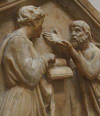 Socrate, ou Aristote, ou Platon (je ne sais plus) enseignant la pyramide inversée à Frère Tuck