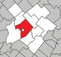 Plessisville (parish) Quebec location diagram.png