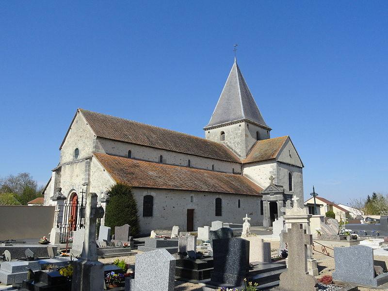 Church Saint-Louvent in Pocancy, France.