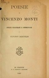 Vincenzo Monti: Le poesie di Vincenzo Monti
