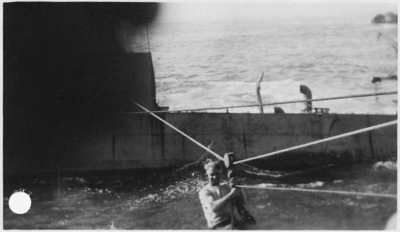 File:Point Honda shipwreck site September 8, 1923, Santa Barbara Co., California. Breeches buoy to U.S.S. Chauncey. - NARA - 295450.tiff