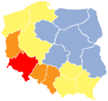 Poland conciliation crosses map of occurrence density by voivodeship 01.png