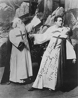 Rosa Ponselle - Rosa Ponselle at the Metropolitan Opera as Leonora falling back into the arms of Enrico Caruso as Don Alvaro in La forza del destino.