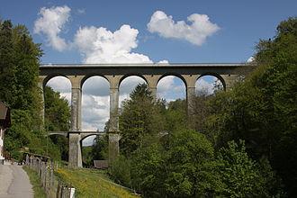 Villars-sur-Glâne - Pont de la Glâne between Villars-sur-Glâne and Hauterive