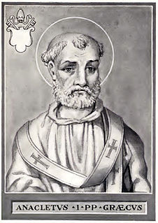 Pope Anacletus 3rd pope and bishop of Rome (reign c. 79 - c. 92)