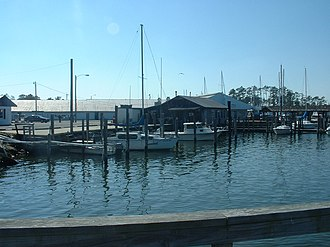 Poquoson, Virginia - Boats parked at the Poquoson Marina.  Boating has been an important part of Poquoson's economy since its inception.