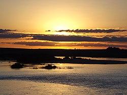 Por do Sol - Rio Ibicui - Manoel Viana - RS.JPG