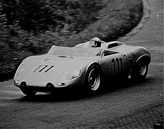Hans Herrmann - Hans Herrmann driving RS 61 at the Nürburgring 1962