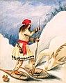 Portrait of Canadian Indian Nicolas Vincent wearing snowshoes by Philip J. Bainbrigge.jpg