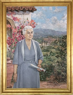 Pearl Chase - Portrait of Pearl Chase at the Santa Barbara Community Center