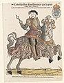 Portret van Hendrik II van Frankrijk in harnas te paard, naar rechts, RP-P-1932-160.jpg