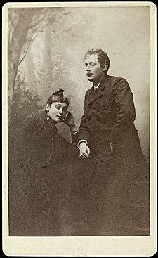Portrett av Edvard Munch og søsteren, Inger Munch (usikker identifisering) (8382626393).jpg