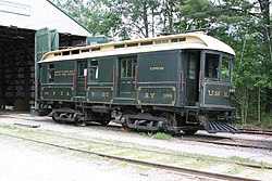 Portsmouth, Dover and York Street Railway 108 at the Seashore Trolley Museum, June 2007.jpg