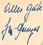 Posipal Jupp-Autograph-Autogramm