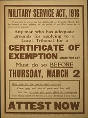 Poster Military Service Act 1916 Attest Now