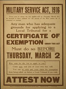 Military Service Act 1916 - Wikipedia