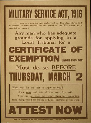 Military Service Act 1916 - 1916 poster publicising the Act