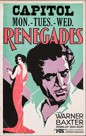 Renegades (1930 film) - Image: Poster of the movie Renegades