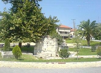 Pella (municipality) - Fountain in the centre of Pella
