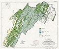 Potomac River basin - Clarke, Frederick, and Highland Counties, Virginia, Berkeley, Grant, Hampshire, Hardy, Jefferson, Mineral, Morgan, and Pendleton Counties, West Virginia - forest cover types LOC 81690200.jpg