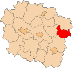 Location within the voivodeship